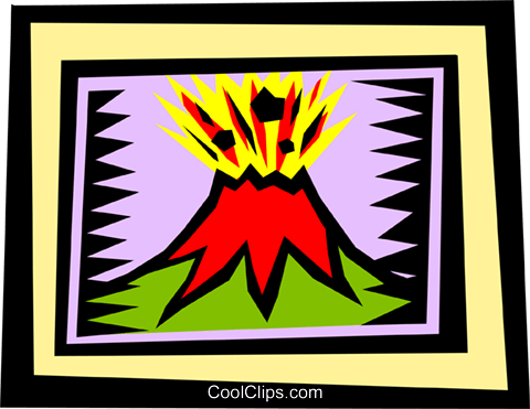 volcano Royalty Free Vector Clip Art illustration natu0599