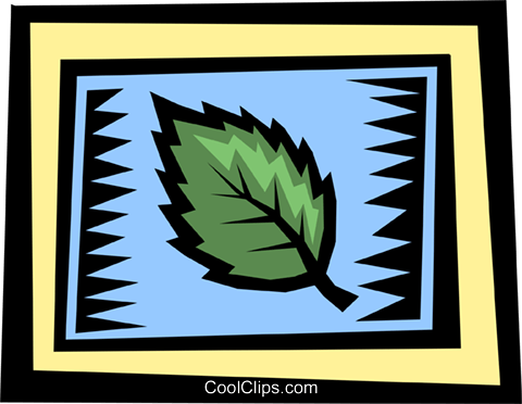 Leaves Royalty Free Vector Clip Art illustration natu0605