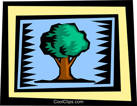 Trees Royalty Free Vector Clip Art illustration natu0611