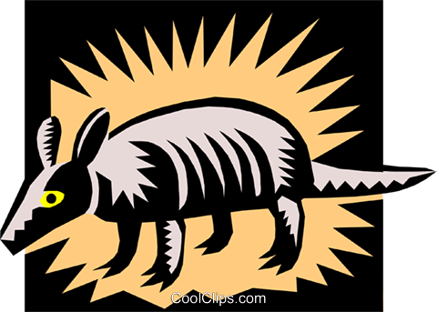 Armadillo Royalty Free Vector Clip Art illustration anim1355