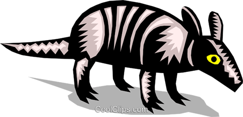 armadillo Royalty Free Vector Clip Art illustration anim1356