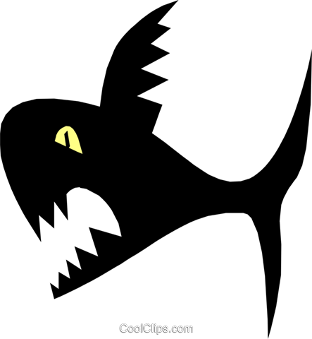 shark Royalty Free Vector Clip Art illustration anim1361