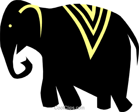 elephant Royalty Free Vector Clip Art illustration anim1363