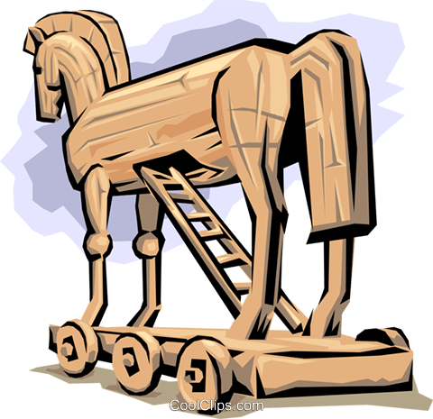 Trojan Horse Royalty Free Vector Clip Art illustration arts0310