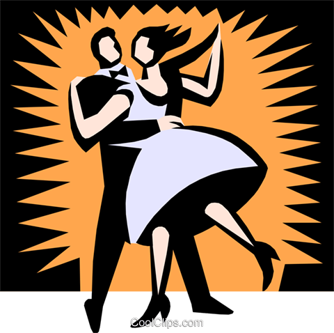 Ballroom dancers Royalty Free Vector Clip Art illustration arts0311