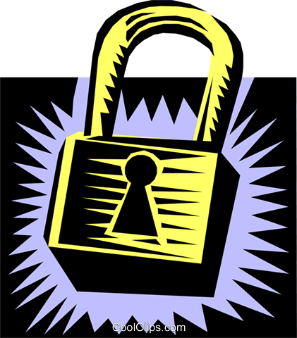 lock Royalty Free Vector Clip Art illustration busi0870