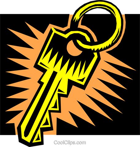 Key Royalty Free Vector Clip Art illustration busi0881