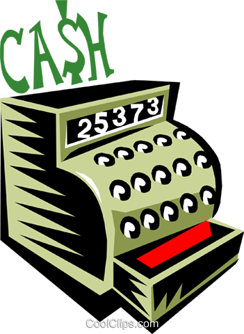 Cash register Royalty Free Vector Clip Art illustration busi0887