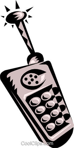 cellular phone Royalty Free Vector Clip Art illustration busi0889