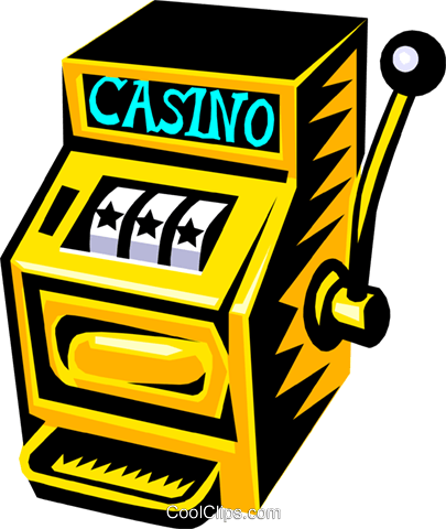 slot machine Royalty Free Vector Clip Art illustration busi0893