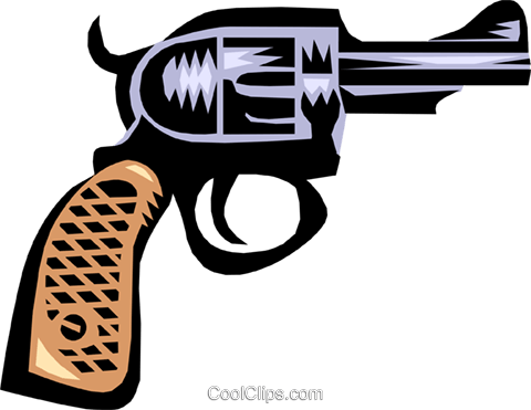 hand gun Royalty Free Vector Clip Art illustration busi0895