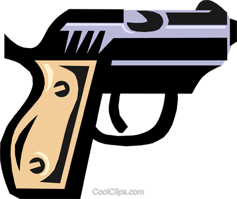 hand gun Royalty Free Vector Clip Art illustration busi0896