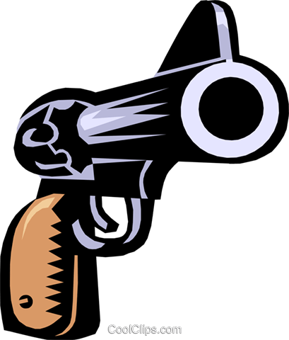 hand gun Royalty Free Vector Clip Art illustration busi0897