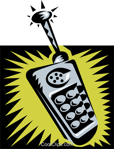 cellular phone Royalty Free Vector Clip Art illustration busi0901