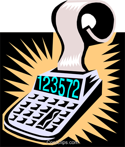 calculator Royalty Free Vector Clip Art illustration busi0902