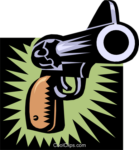 gun Royalty Free Vector Clip Art illustration busi0906
