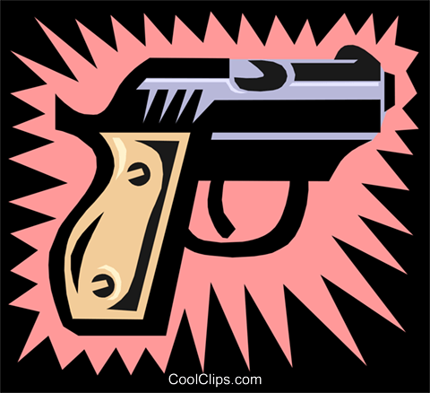 gun Royalty Free Vector Clip Art illustration busi0907