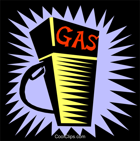 gas pump Royalty Free Vector Clip Art illustration envi0175
