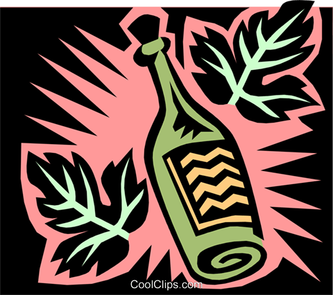 liquor bottle Royalty Free Vector Clip Art illustration food0713
