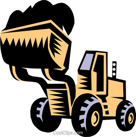heavy equipment/front end loader Royalty Free Vector Clip Art illustration indu0617
