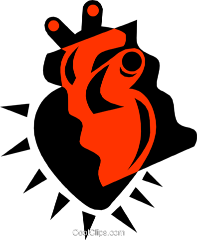 Heart Royalty Free Vector Clip Art illustration medi0294