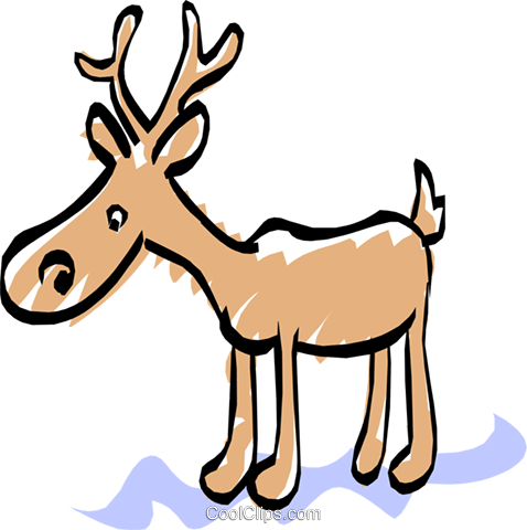 moose Royalty Free Vector Clip Art illustration anim1368
