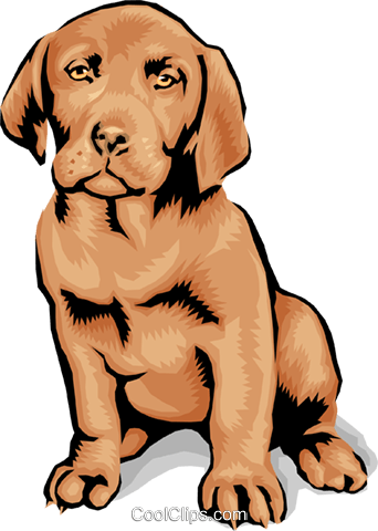 Dog Royalty Free Vector Clip Art illustration anim1376