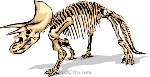 Dinosaur bones Royalty Free Vector Clip Art illustration anim1380