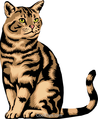 Cat Royalty Free Vector Clip Art illustration anim1391
