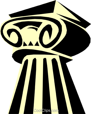 Ionic column Greek Royalty Free Vector Clip Art illustration arch0346