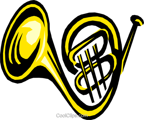 French horn Royalty Free Vector Clip Art illustration arts0319