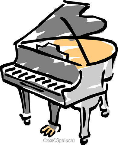 grand piano Royalty Free Vector Clip Art illustration arts0320