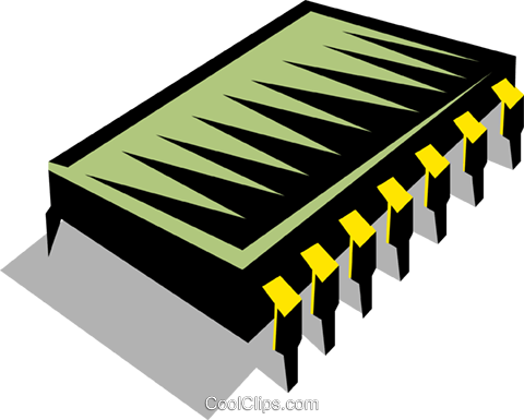 Computer chip Royalty Free Vector Clip Art illustration busi0909