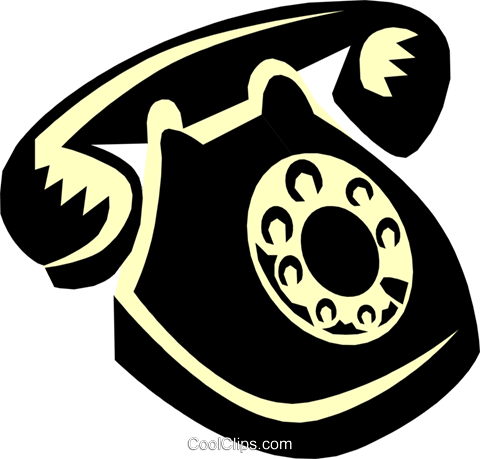 telephone Royalty Free Vector Clip Art illustration busi0912