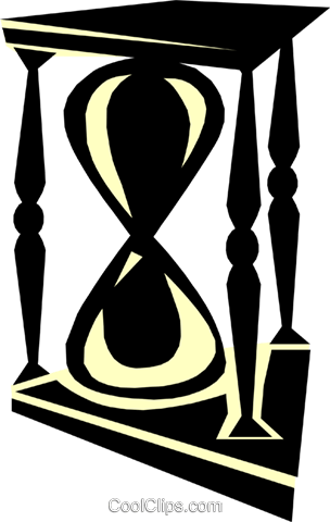 hourglass Royalty Free Vector Clip Art illustration busi0913