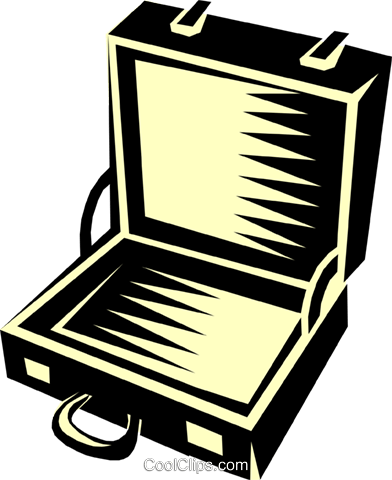 briefcase Royalty Free Vector Clip Art illustration busi0922