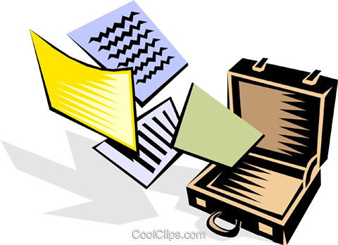 briefcase Royalty Free Vector Clip Art illustration busi0923