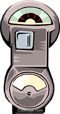 parking meter Royalty Free Vector Clip Art illustration busi0929