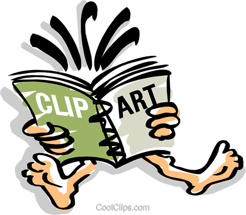 Reading Vektor Clipart Bild cart1515
