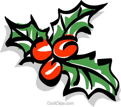 Holly/Christmas Royalty Free Vector Clip Art illustration even0626