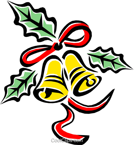 Christmas decorations/bells Royalty Free Vector Clip Art illustration even0634