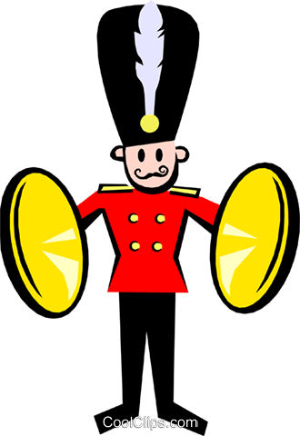 royal band Royalty Free Vector Clip Art illustration even0640