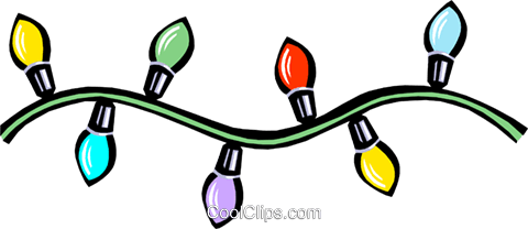 Christmas lights Royalty Free Vector Clip Art illustration even0643