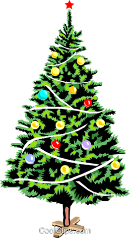 Christmas tree Royalty Free Vector Clip Art illustration even0654