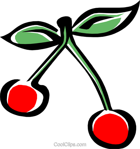 cherries Royalty Free Vector Clip Art illustration food0720