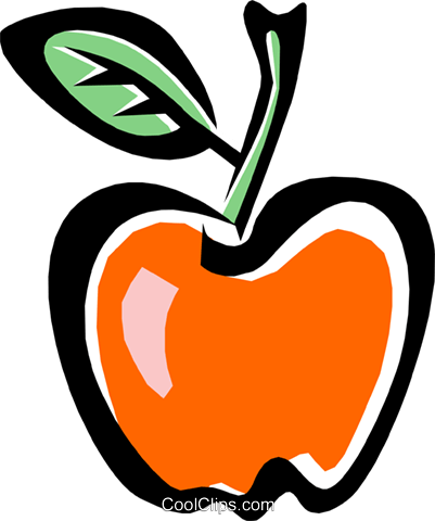 Apple Royalty Free Vector Clip Art illustration food0722