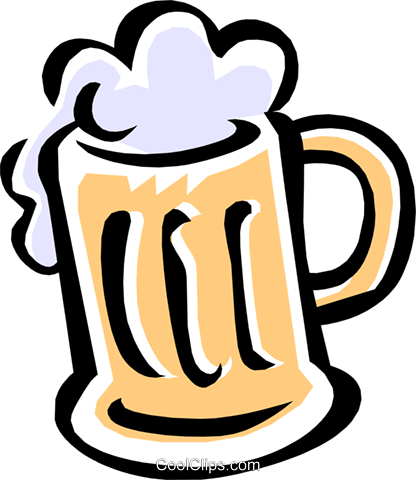 mug of beer Royalty Free Vector Clip Art illustration food0726