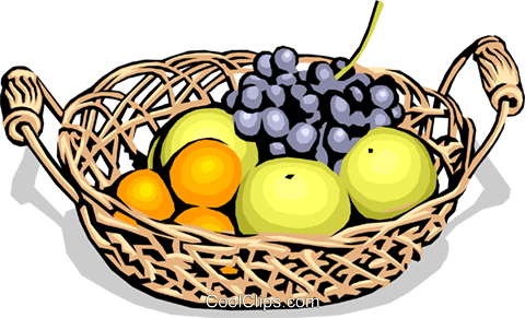 essen korb mit frischem obst vektor clipart bild food0727. Black Bedroom Furniture Sets. Home Design Ideas