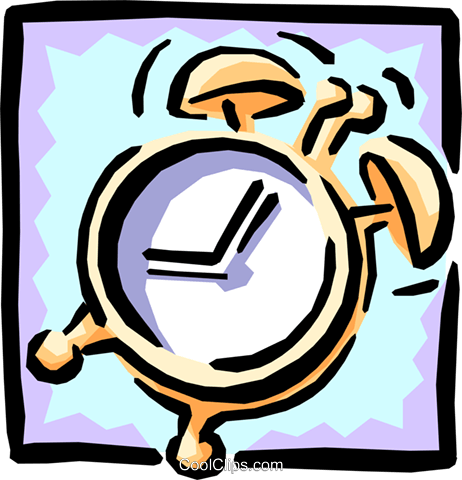 alarm clock Royalty Free Vector Clip Art illustration busi0934