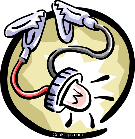 electricity current indicator Royalty Free Vector Clip Art illustration busi0937